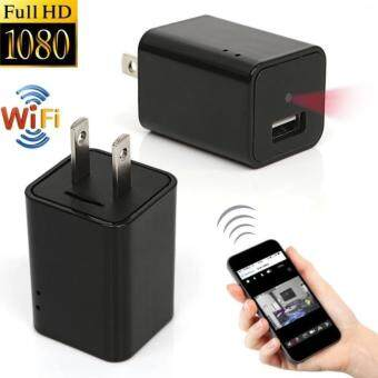 i-Unique Wifi Wall Charger Hidden Spy Camera 1080P HD USB AC WallPlug Adapter Camera with Motion Detection , P2P Wireless WifiDigita Video Recorder for IOS iPhone Android Phone APP Remote View(Black)