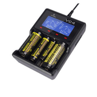 i-Unique Xtar VC4 USB Charger Li-ion/Ni-MH Battery Charger (Black)