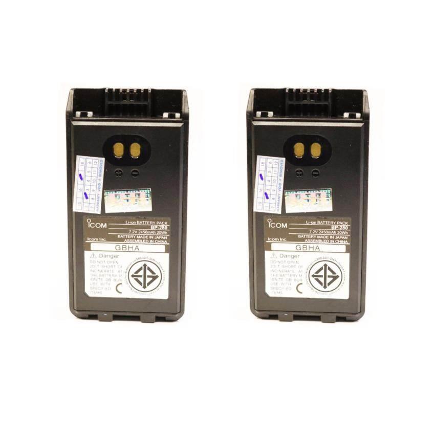 แบตเตอรี่วิทยุสื่อสาร ICOM 50FX แท้ แบบหนา BP-280 แบบคู่