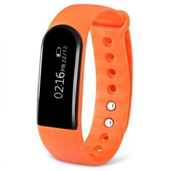 ID101HR Bluetooth 4.0 Bracelet Heart Rate Monitor (Orange) - intl