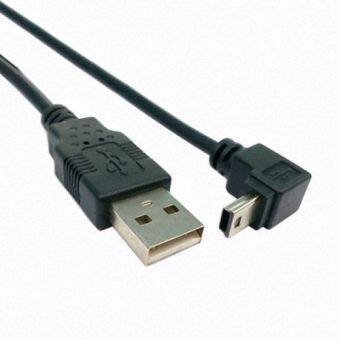 Harga CY Chenyang 0.5m Down Angled 90 Degree Mini USB 2.0 B Type 5Pin Male to USB Male Data Cable