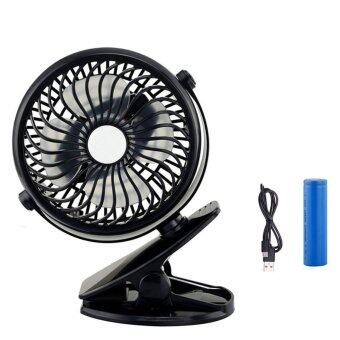 Harga Mini Desk Fan USB Rechargeable Portable Fan For Baby Stroller Car Laptop Home Office (Color:c0) - intl
