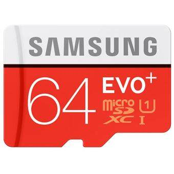 Harga Samsung เมมโมรี่การ์ด Micro SD Card Class 10 Satisfaction Guaranteed 100%64GB 48MB/s EVO (RED)