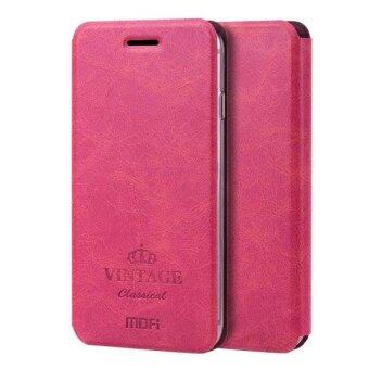 Harga MOFI VINTAGE for iPhone 6 Plus & 6s Plus Crazy Horse Texture Horizontal Flip Leather Case with Card Slot & Holder(Magenta)  - intl