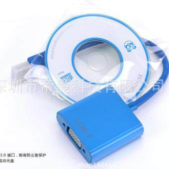 Harga ZS USB 3.0 to VGA Video Graphic Card Display External Cable Adapter For Win 7 8+CD