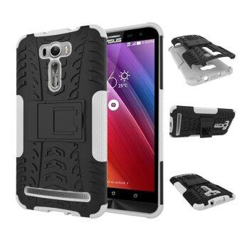 "Harga ZE601KL Case, Hard PC+TPU Shockproof Tough Dual Layer Cover Shell for ASUS Zenfone 2 Laser 6.0"", White - intl"
