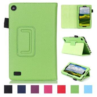 Harga PU Leather Support Dormancy Case Cover For Amazon new fire 7 2015(Green)