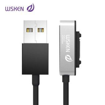 Harga WSKEN magnetic usb Led charger cable for sony mini Z3 Z2 Tablet Xperia Z3 Z2 Z1 Compact , Quick Charging,with three colors (Silver) - intl