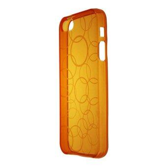 Harga Leegoal Orange Circle Semi Transparent Flexible TPU Case for iPhone 5 5S - intl