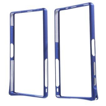 Harga For Sony Xperia Z5 Compact Hippocampal Buckle Aluminum Alloy Bumper Cover - Deep Blue - intl