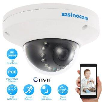 Harga szsinocam 1080P HD POE Dome IP Camera 2.0MP 12 IR LEDS 1/3'' CMOS H.264 P2P Onvif Weatherproof Support Motion Detection Phone APP Control Night Vision for CCTV Security Tomnet - intl