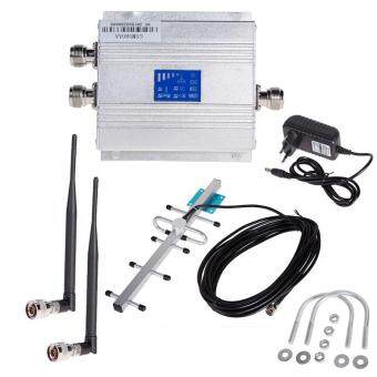 Harga LCD GSM 900Mhz Cellphone Signal Booster Repeater Amplifier+Yagi Antena Kit [SM] - intl