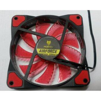 Harga พัดลม FAN Nubwo NFT-100 Air Force 120mm LED Fan Case Red