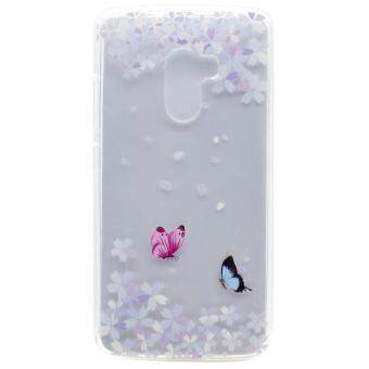 Harga For Lenovo Vibe K4 Note / A7010 / Vibe X3 Lite Illustration Flexible TPU Back Phone Shell - Butterflies and Florets - intl