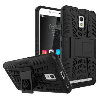 Harga BYT Rugged Dazzle Case for Lenovo A6600 with Kickstand (Black) - intl