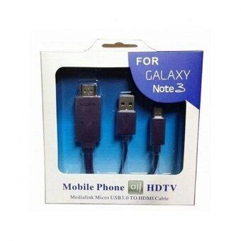 Harga MHL Samsung สาย MHL HDTV Android HDMI สำหรับ Samsung Note3 / Note 2 / S3 / S5 / S4 (Black)