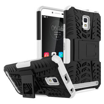 Harga BYT Rugged Dazzle Case for Lenovo A6600 with Kickstand (White) - intl