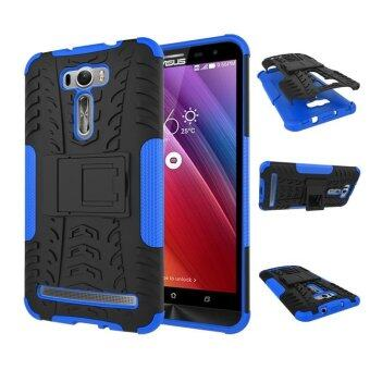 "Harga ZE601KL Case, Hard PC+TPU Shockproof Tough Dual Layer Cover Shell for ASUS Zenfone 2 Laser 6.0"", Blue - intl"