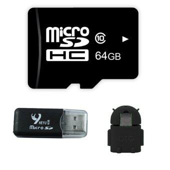 Harga OMG Micro SD Card 64 Gb + OTG-Black + Heyu Card Reader (Black)