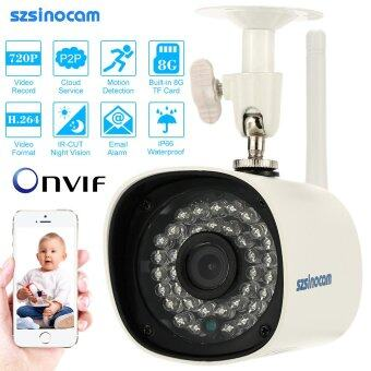 Harga szsinocam HD Megapixels 720P Wireless Wifi Camera + 8G TF Card CCTV Surveillance Security P2P Network IP Cloud Indoor Outdoor Bullet Camera support Onvif2.4 Weatherproof IR-CUT Night Vision Motion Detection Email Alarm Android/iOS APP Free CMS - intl