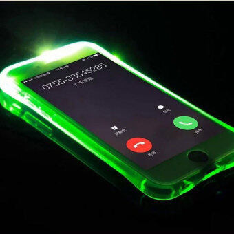 Harga 2016 Best Quality TTLIFE Colorful Flashing phone calls case Samsung S6 emitting (green)