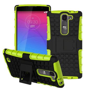 Harga RUILEAN Hybrid Armor Design Tough Rugged Shockproof TPU + PC Dual-Layer Kickstand Case for LG G4c / LG G4 Mini / LG Volt 2 / LG Magna (Green)