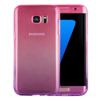Harga For Samsung Galaxy S7 Edge / G935 Double-sided Gradient Color TPU Protective Case Back Cover(Magenta + Purple) - intl