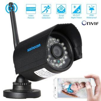 Harga szsinocam Full HD 2.0MP Megapixels 1080P WiFi Camera CCTV Surveillance Security Network IP Cloud Bullet Camera support P2P Android/iOS APP Onvif2.4 Weatherproof IR-CUT Filter Infrared Night View Motion Detection Email Alarm Browser View 24 LEDs - intl
