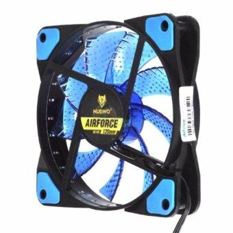 Harga พัดลม FAN Nubwo NFT-100 Air Force 120mm LED Fan Case Blue
