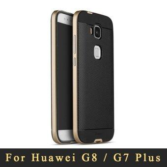 Harga Huawei G8 / G7 Plus case Top quality Luxury Armor Silicone Back Cover+Plastic Frame Shockproof Phones case for Huawei G7 Plus/G8 - intl
