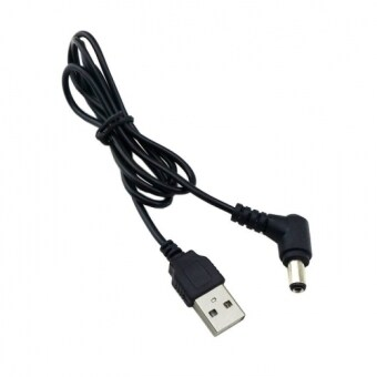 Harga CY Chenyang 80cm USB 2.0 A Type Male to Right Angled 90 Degree 5.5 x 2.5mm DC 5V Power Plug Barrel Connector Charge Cable