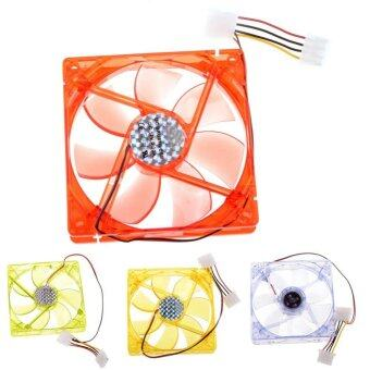 Harga 12cm Super Silent Cooling Case Fan With LED light 12V PC Fan P0.37 - intl