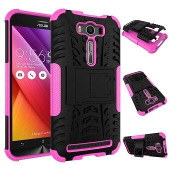 Harga Zoeirc Heavy Duty Shockproof Dual Layer Hybrid Armor Protective Cover with Kickstand Case for Asus Zenfone 2 Laser ZE500KL - intl
