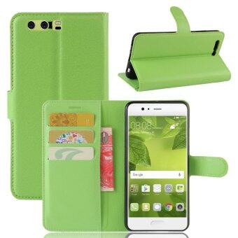 Harga PU Leather Flip Cover Case For Huawei P10 Plus (Green) - intl(Green)