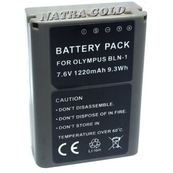 Harga NATRA GOLDแบตเตอรี่กล้อง โอลิมเปียพัส Battery รุ่น BLN-1 1220mAh for Olympus OM-D E-M5, Olympus E-M5, Olympus OM-D E-M5 II, Olympus OM-D E-M1, Olympus E-M1, Olympus PEN E-P5, Olympus PEN-F Replacement Battery for Olympus(Gray)