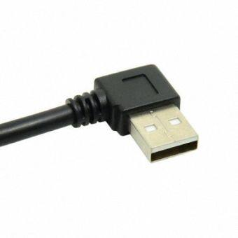 Harga CY Chenyang 20cm Mini USB 5Pin 90 Degree Right Angled Male to Left USB 2.0 Male Data Charge Cable