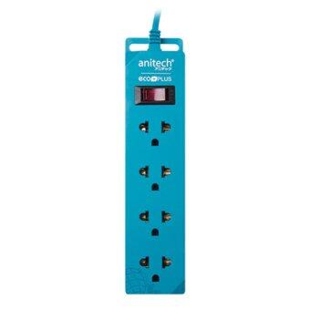 Harga ANITECH SURGE PROTECTOR ECO 4WAY 2M [H100-BL] (Blue)