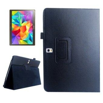 Harga SUNSKY PU Flip Leather Cover with Holder for Samsung Galaxy Tab S 10.5 / T800 (Black)