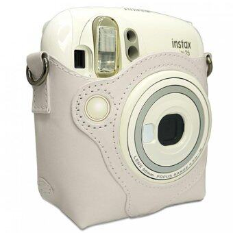 Harga Takashi Protective PU Leather Bag with Strap for Fujifilm Instax Mini 25 Instant Camera (White) (Intl)
