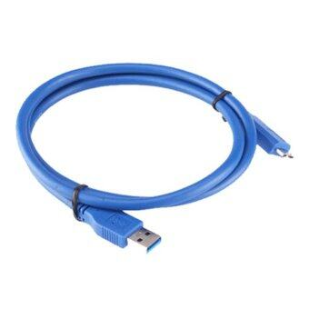 Harga CY Chenyang 100CM High Quality material 3FT 3Feet Super Speed USB 3.0 Male Type A to Micro B Cable (Blue)