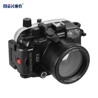 Harga MEIKON Waterproof Camera Diving Housing Protective Case Cover Underwater 40m/ 130ft for Canon G7X Mark II - intl