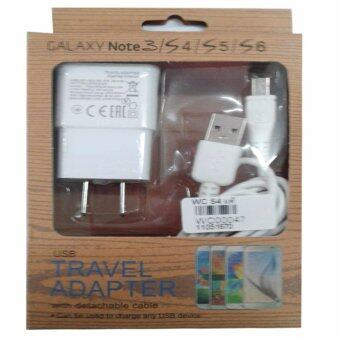 Harga หัวชาร์จและสาย Samsung Galaxy noet 3/S4/S5/S6 Micro USB Data Cable + Home Wall Charger (สีขาว)