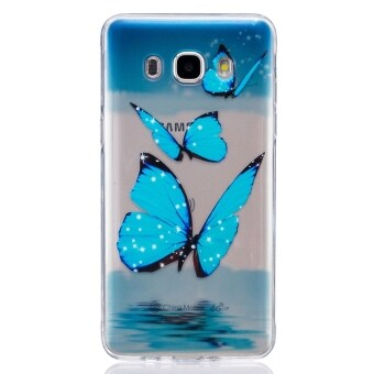 Harga Case for Samsung Galaxy J5(2016) J510 TPU Clear Back Case Cover - Blue Butterfly - intl