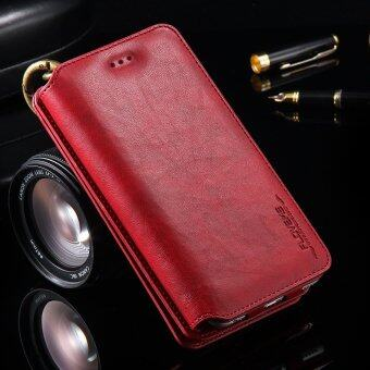 Harga FLOVEME Multifunctional Wallet Leather Cover Case for iPhone 6s/6 Etc - Red