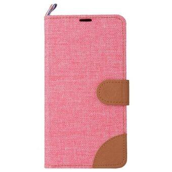 Harga Denim Texture Leather Flip Cover for Meizu M2 (Pink)