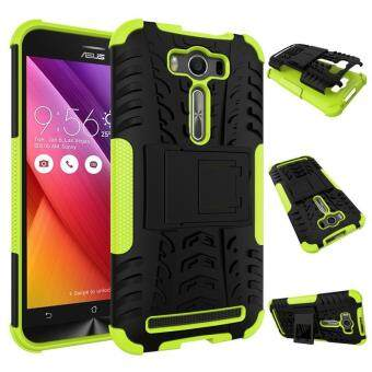 Harga Fashion Heavy Duty Shockproof Dual Layer Hybrid Armor Protective Cover with Kickstand Case for Asus Zenfone 2 Laser ZE500KL - intl