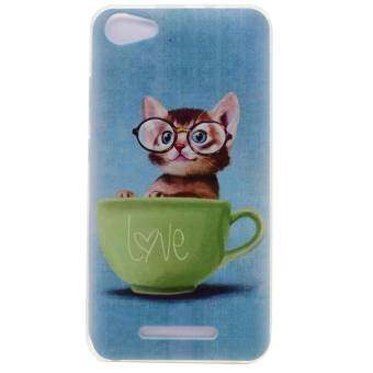 Harga Soft TPU Cover Case for Wiko Jerry (Cute Cat) - intl