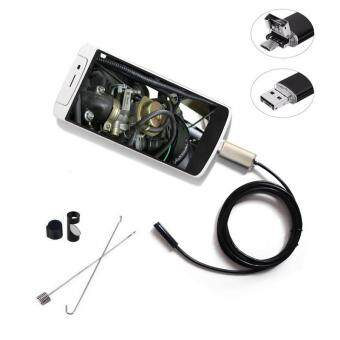 Harga 1m/2m/5m/10m PC Android Endoscope 7mm Lens USB Endoscope Camera Waterproof Inspection Borescope Micro OTG USB Car Endoscope(2M) - intl