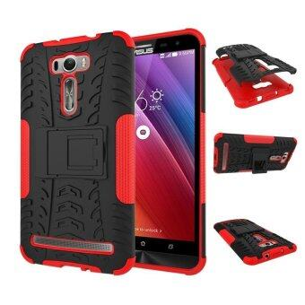 "Harga ZE601KL Case, Hard PC+TPU Shockproof Tough Dual Layer Cover Shell for ASUS Zenfone 2 Laser 6.0"", Red - intl"