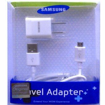 Harga Samsung ชาร์ต+สาย Samsung Galaxy J1/J2/J5/J7 Micro USB Data Cable + Home Wall Charger (สี-ขาว)